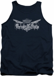 Justice League  tank top Justice Wings mens navy