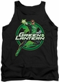 Justice League  tank top Lantern Glow mens black