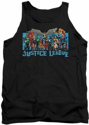Justice League  tank top League Lineup mens black