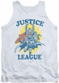 Justice League  tank top Let's Do This mens white