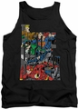 Justice League  tank top Lettered League mens black