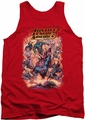 Justice League  tank top Lost mens red