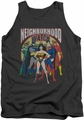 Justice League  tank top Neighborhood Watch mens charcoal