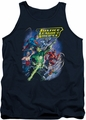 Justice League  tank top Onward mens navy