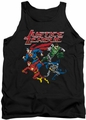 Justice League  tank top Pixel League mens black