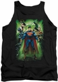 Justice League  tank top Power Burst mens black