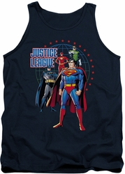 Justice League  tank top Protectors mens navy