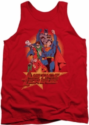 Justice League  tank top Raise Your Fist mens red
