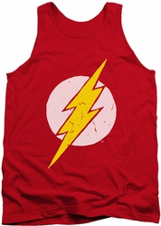 Justice League  tank top Rough Flash mens red