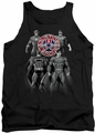 Justice League  tank top Shades Of Gray mens black