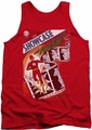 Justice League  tank top Showcase #4 Cover mens red
