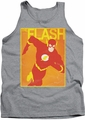 Justice League  tank top Simple Flash Poster mens athletic heather
