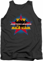 Justice League  tank top Stand Tall mens charcoal