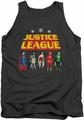 Justice League  tank top Standing Below mens charcoal