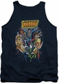 Justice League  tank top Star Group mens navy