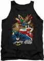 Justice League  tank top Starburst mens black