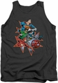 Justice League  tank top Starburst mens charcoal