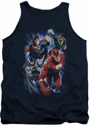 Justice League  tank top Storm Chasers mens navy
