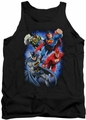 Justice League  tank top Storm Makers mens black
