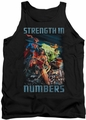 Justice League  tank top Strength In Number mens black