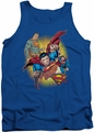 Justice League  tank top Superman Collage mens royal