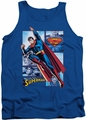 Justice League  tank top Superman Panels mens royal