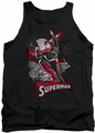 Justice League  tank top Superman Red & Gray mens black