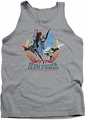 Justice League  tank top Team Power mens heather