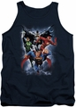 Justice League  tank top The Coming Storm mens navy