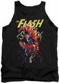 Justice League  tank top The Flash Ripping Apart mens black