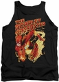 Justice League  tank top The Flash Scarlet Speedster mens black