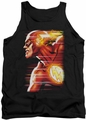 Justice League  tank top The Flash Speed Head mens black