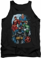 Justice League  tank top The Four mens black