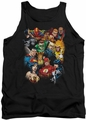 Justice League  tank top The League's All Here mens black