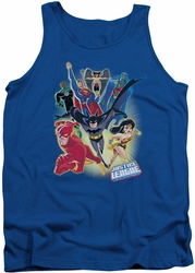 Justice League  tank top Unlimited mens royal