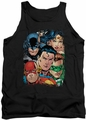 Justice League  tank top Up Close And Personal mens black