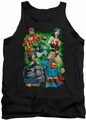 Justice League  tank top Will Power mens black