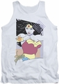 Justice League  tank top Wonder Woman 80S Minimal mens white