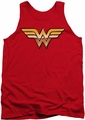 Justice League  tank top Wonder Woman Golden mens red
