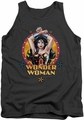 Justice League  tank top Wonder Woman Powerful Woman mens charcoal