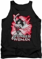 Justice League  tank top Wonder Woman Red & Gray mens black