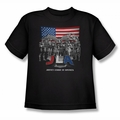 Justice League youth teen t-shirt All American League black