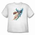 Justice League youth teen t-shirt Allegiance white