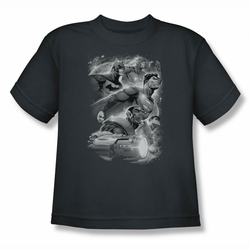 Justice League youth teen t-shirt Atmospheric charcoal