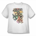 Justice League youth teen t-shirt Brightest Day #0 white