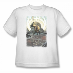 Justice League youth teen t-shirt Brightest Day Aquaman white