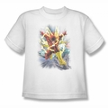 Justice League youth teen t-shirt Brightest Day Flash white