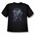 Justice League youth teen t-shirt Cosmic Crew black