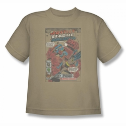 Justice League youth teen t-shirt Cube Creature sand