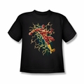 Justice League youth teen t-shirt Flash Electric Death black